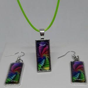 Beautiful Multicolored Stone Necklace Set
